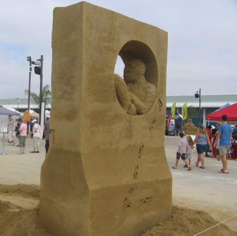 2014 US Sand Sculpting Challenge is in San Diego by the cruise ship terminal.