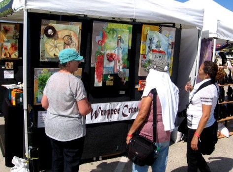 Many displays of art dotted the exhibition, as well as food trucks and a stage.