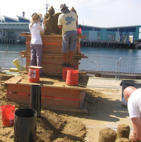 I saw the Sandcastle Man at the Imperial Beach event, too!