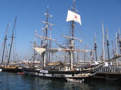 Replica of Richard Henry Dana's brig Pilgrim at the 2014 Festival of Sail!