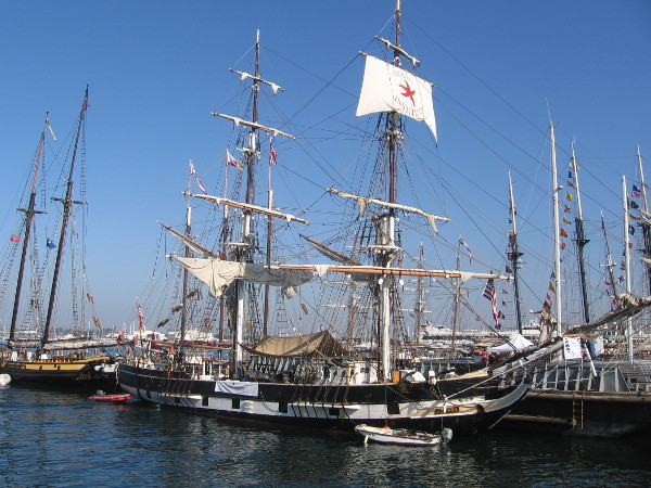 Replica of Richard Henry Dana's brig Pilgrim at the 2014 Festival of Sail!