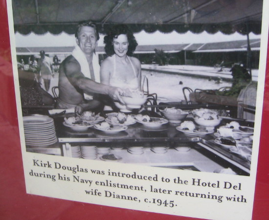 Kirk Douglas seems to have quite an appetite!