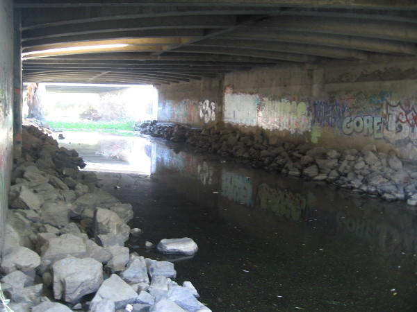 This is where Highway 163 passes over the San Diego River.