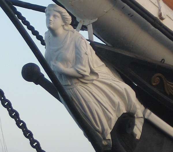 Closer look at Star of India's classic figurehead.
