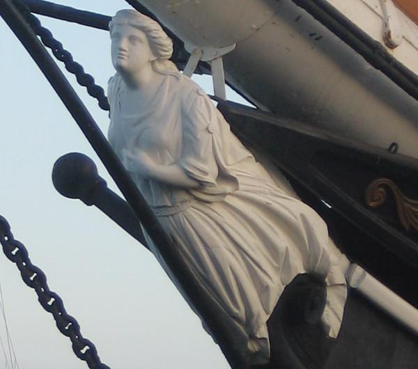 Closer look at Star of India's classic figurehead.