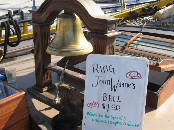 This large bell was donated by famous actor John Wayne from his own ranch!