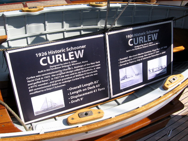 Curlew served as a training ship and submarine patrol boat in World War II.