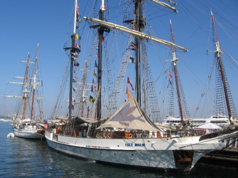 The Tole Mour takes students out to the Channel Islands as a school ship.