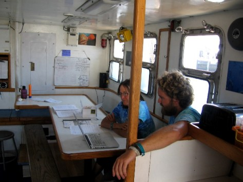 Here's the cabin where kids gather to eat and learn about the sea.