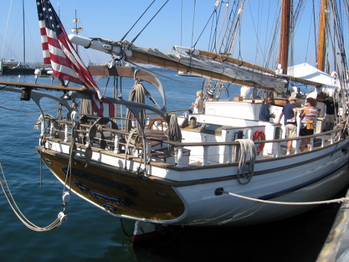 The Irving Johnson, a brigantine based in San Pedro, the port of Los Angeles.