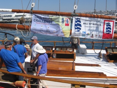 It's the Bill of Rights, a gaff-rigged schooner from Chula Vista, in our south bay!