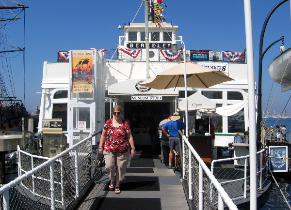 This is the hub of the San Diego Maritime Museum--the Berkeley steam ferryboat.