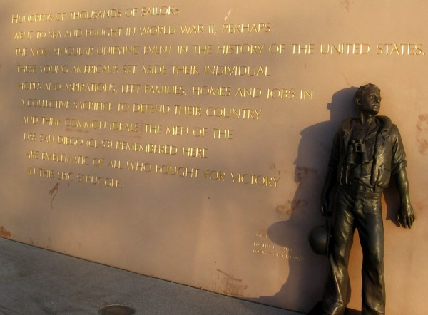 Golden light before sunset highlights written remembrance.