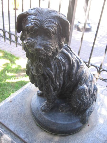 Greyfriars Bobby, town dog of Edinburgh, Scotland.