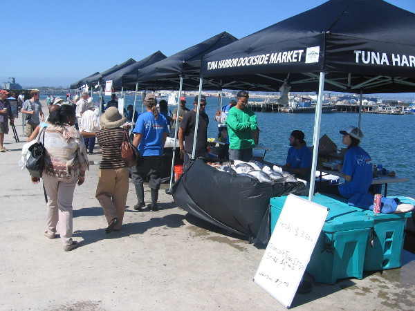 Tuna harbor dockside market grows downtown cool san for Fish market seaport village