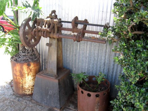 Parts of factory machinery today are brimming with potted plants.