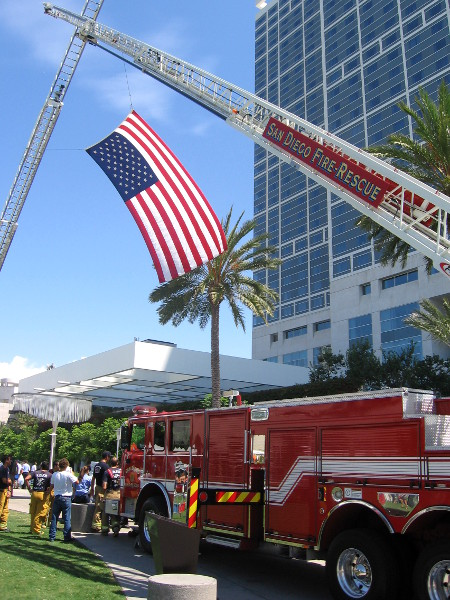 The selfless courage of 911 firefighters is honored.