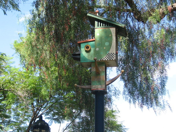 Houses for birds are creative works of imagination, built by local artists in 2008.