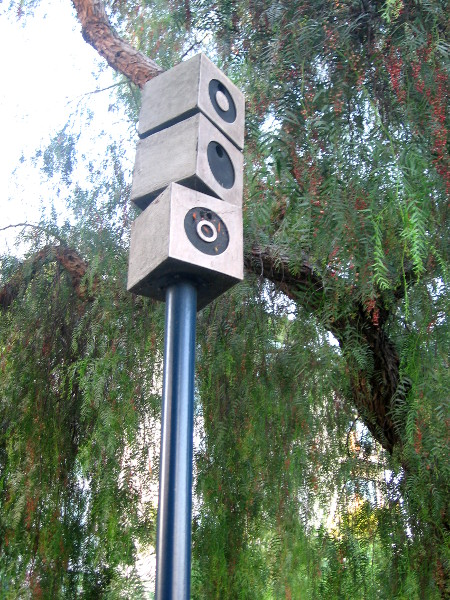 Another fanciful birdhouse in the downtown San Diego park.