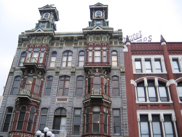 Fun, elaborate architecture can be seen all over the historic Gaslamp.