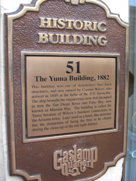 The Yuma Building was one of downtown's first brick structures.