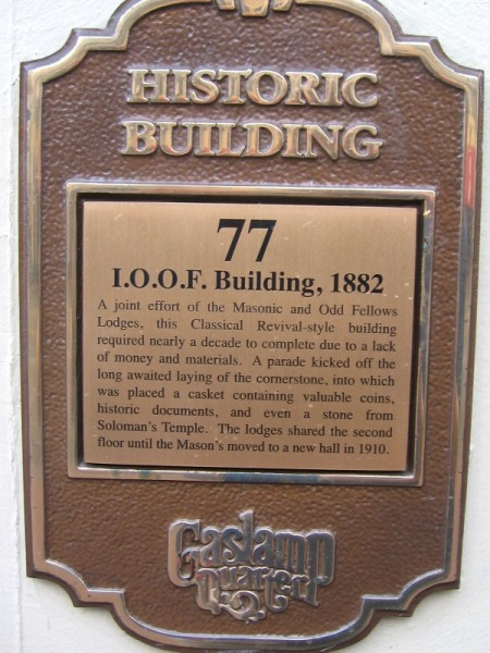 I.O.O.F. Building's cornerstone contains a stone from Soloman's Temple!