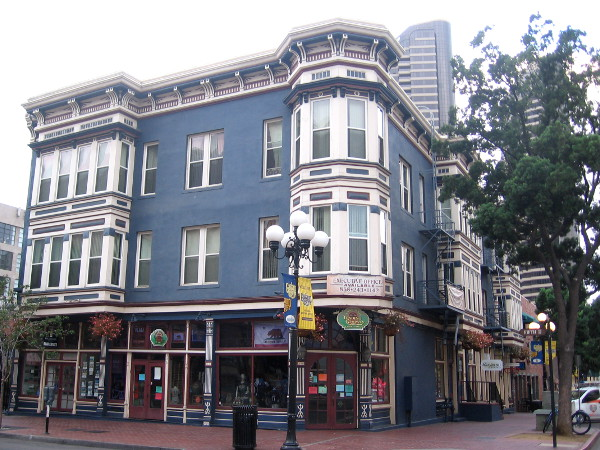 The distinctive old Victorian Grand Pacific Hotel in San Diego's Gaslamp.
