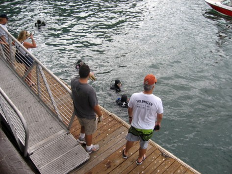 Power Scuba and Control Group teamed up for downtown waterfront cleanup event.