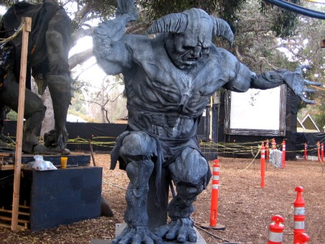 One of several huge monsters awaiting visitors to the 2014 Haunted Trail.