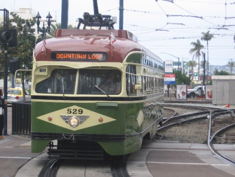 PCC 529 is a lovingly restored President's Conference Committee streetcar.