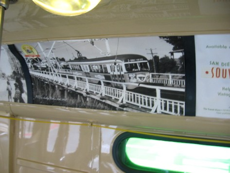 Images inside the Silver Line show streetcars on San Diego roads long ago.