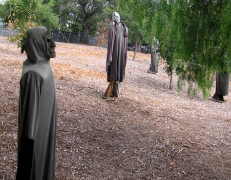 Black-robed ghosts and grim reapers are rising in the popular Halloween attraction.