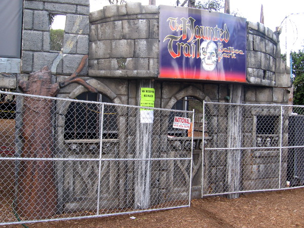 Entrance to Haunted Trail rises again this year, as do many spooky old props.