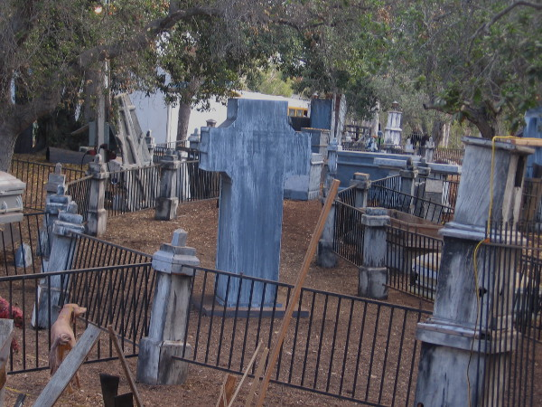 I suppose all the undead have risen from this scary graveyard on the Haunted Trail!