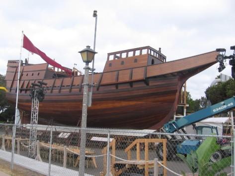 Seaworthy replica of galleon San Salvador built by San Diego Maritime Museum.