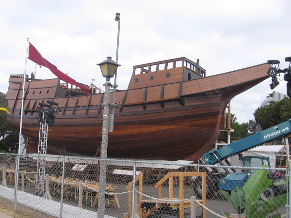 Seaworthy replica of galleon San Salvador built by San Diego Maritime Museum.