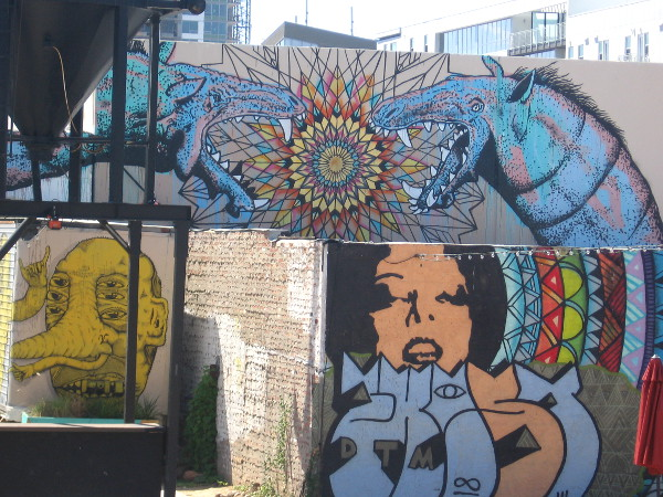 SILO in San Diego's East Village is bursting with colorful street art.