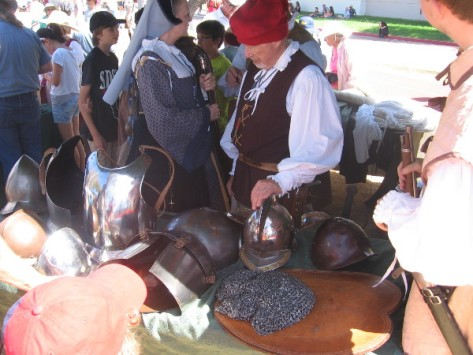 Exhibits included various parts of Spanish conquistador armor.