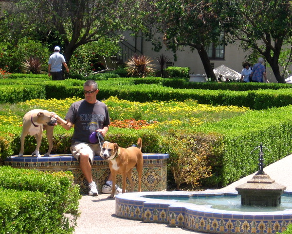 The garden is not easily seen from El Prado, but many people find and enjoy it.