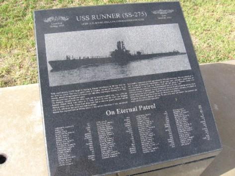 USS Runner (SS-275) on eternal patrol.