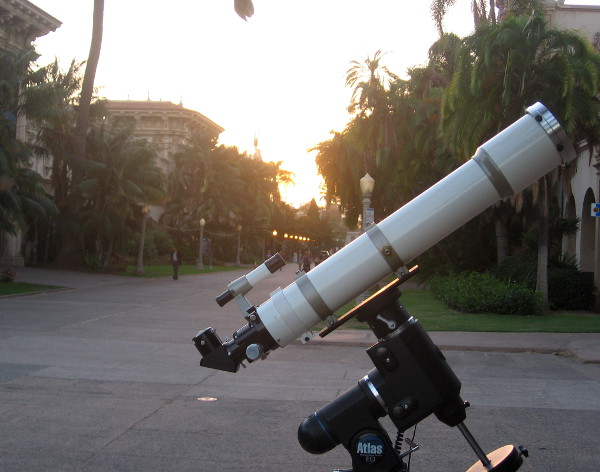 One of many amateur telescopes set up the first Wednesday of every month.