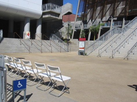 One unusual venue, at bottom of steps on the campus of San Diego City College.