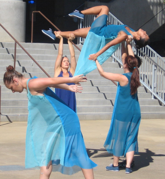 Dancers perform many athletic, amazing moves.