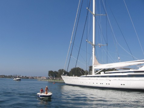 Mirabella V is the largest single-masted yacht in the world! It's gigantic!