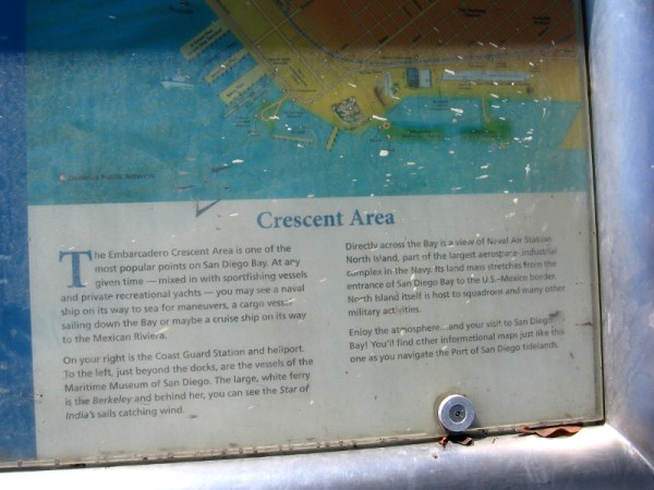 This old sign describes the Crescent Area just south of the Coast Guard Station.