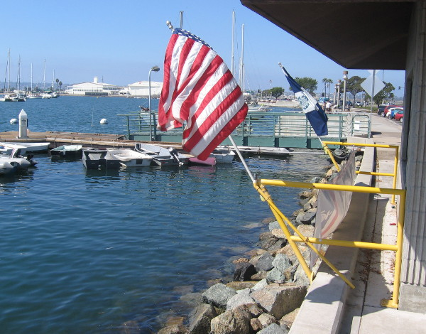 Photo taken behind Coast Guard Auxiliary station on North Embarcadero.