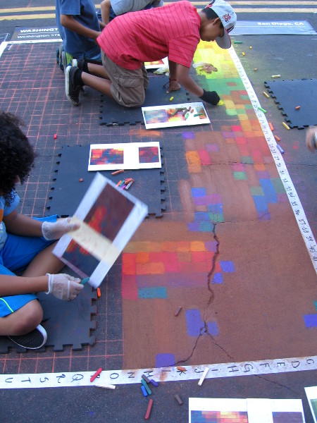 This Italian chalk art will be admired by tens of thousands on Sunday.