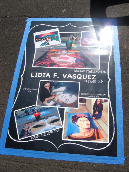 13 year old Lidia F. Vasquez has been creating amazing chalk art for 4 years!