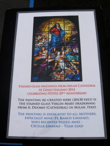 Stained glass Madonna from Milan Cathedral will be reproduced.