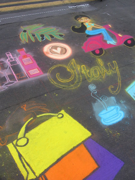 Tiffany Garza is the daughter of Tonie! Her chalk art is really fun!